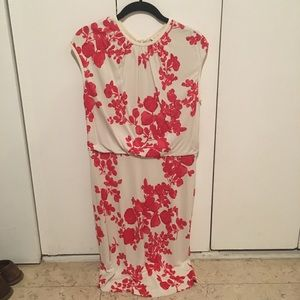 Tory Burch Red & Cream Dress